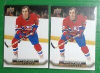 (2) 2015-16 Upper Deck Guy Lafleur UD Canvas Retired Stars #C244 LOT! Canadiens