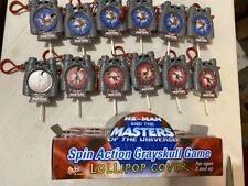 HE Man MOTU Masters of the Universe 200X Spin Action Grayskull Lollipop Display