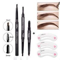 3-in-1 Long Lasting Eyebrow Pencil Brush Pen 3Pcs Eye Brow Shaper Makeup Kit Top