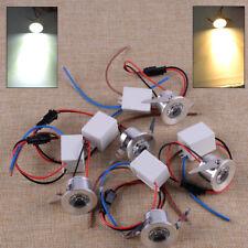 5X 3W LED Recessed Mini Spot Lamp Cabinet Ceiling Downlight Driver Fixture Em