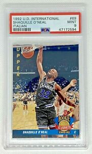 1992-93 Upper Deck Italian #69 Shaquille O'Neal RC Rookie Standouts PSA 9 MINT