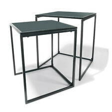 NEW! Metal Coffee Table Set Of 2 - Powder Coated Steel Ideal For Patio Backyard