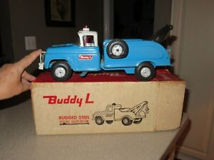 Vintage 1960's Buddy L TOW TRUCK Wrecker Pressed Steel in Original BOX~SUPERB!