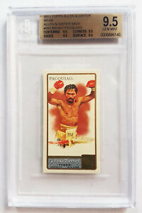 Manny Pacquiao 2011 Topps Allen and Ginter Mini A and G Back RC ROOKIE BGS 9.5