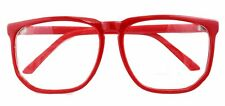 Oversized Large Retro Geek Nerd Square  Clear Lens Glasses Party Fancy Dress