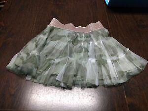 Justice Green Designed Skort Size Girl's 10 EUC