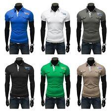 Herren-T-Shirts mit Y-Ausschnitt und Stretch