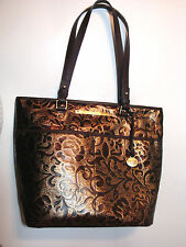 Brahmin Asher Bronze Gatsby Genuine Leather Top-Zip Shoulder Handbag J51736BZ LG
