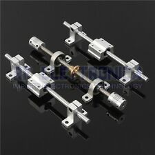 Machifit 15pcs 400mm CNC Parts Optical Axis Guide Bearing Housings Aluminum Rail