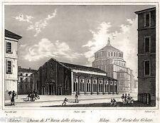 Milano: Chiesa di Santa Maria delle Grazie. Audot. Acciaio. Stampa Antica. 1840