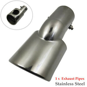 1PC Car Exhaust Trim Pipe Tail Tip Muffler Stainless Steel Part Universal
