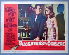 Sex Kittens Go To College lobby card movie poster 1960 Mamie Van Doren pin up