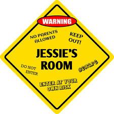 """*Aluminum* Jessie's Room Kids Room Door 12""""x12""""  Metal Novelty Sign"""