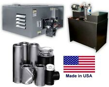 Waste Oil Heater - 200,000 BTU - 80 Gallon Tank- Wall Chimney Kit - 5,000 sq ft