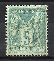 France 1876 type Sage (1) type II (N sous U) Yvert n° 75 oblitéré 1er choix