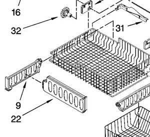 Whirlpool Refrigerator Upper Freezer Basket Vertical Divider Part # W10171557