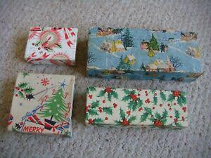 4 x Vintage 1960's Christmas Gift Boxes