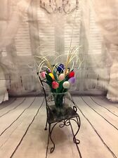 Hand painted wooden Dutch tulips flower arrangement