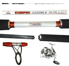 kit canna everpro vertical jigging 200g mulinello barca mare dentice ricciola