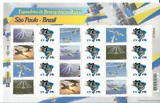 BRAZIL 2009, AIR FORCE AEROBATIC SQUADRON, AVIATION, SHEET OF 12 PLUS LABELS