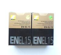 2 X EN-EL15 NEW Battery For Nikon D7000 D800 D800E D7000 D600 MB-D11/D12 15