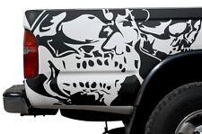 Vinyl Graphics Decal Wrap Kit for 1995-04 Toyota Tacoma Truck Double Skull BLACK