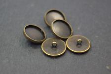Metallknöpfe 16mm 5Stk DIY Nähen Nähbedarf bronzefarben