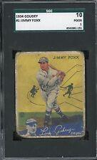 1934 Goudey #1   Jimmy Foxx   HOF  Athletics   SGC 10!!!!