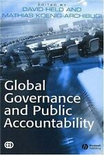 Global Governance and Public Accountability, , Acceptable Paperback Book