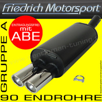 FRIEDRICH MOTORSPORT ENDSCHALLDÄMPFER OPEL ASTRA G CC/FLIEßHECK TURBO+OPC 2.0 T