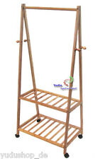 Garderobel Porte-Manteaux Vestiaire Support de Garde-Robe Bambou