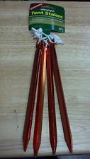 TENT STAKES, ULTRALIGHT, THREE SIDED DESIGN, PULL CORD, 4 STAKES