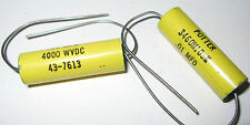 2 Metalized Mylar Capacitor 4kV .01uF - POTTER - 4000v 10000pF 43-7613 3460M103K