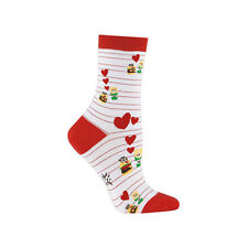 Retro Diner Hamburger French Fries Heart Red Striped Womens Crew Socks It To Me
