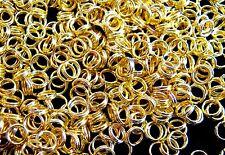 100 SPALTRINGE, gold farben 5mm #S230