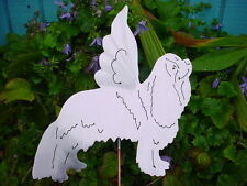 ANGEL CAVALIER KING CHARLES SPANIEL METAL LAWN ORNAMENT YARD PLANT GARDEN ART