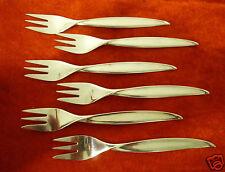 6 Kuchengabeln BSF Liane 90er Silber Auflage Besteck Gabel 14,9 cm versilbert