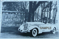1935 1936 Auburn Boat Tail Supercharged Speedster 12 X 8 Black & White Picture
