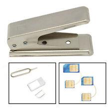Regular Standard Micro To Nano SIM Card Metal Cutter +2 Adapters For iPhone5/5s