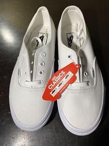 Vans Authentic True White Classic Canvas Sneaker Women Size 7.5