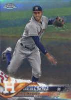 2018 Topps Chrome Baseball #103 Carlos Correa Houston Astros