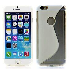 Apple iPhone 6 (4,7) Silikon Case Schutz Ring Hülle Cover Transparent + Folie