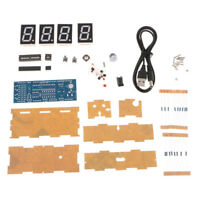 Digital 4 Bits Electronic Clock DIY Kit LED Display Suite Electronic Module