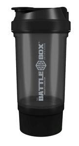 BattleBoxUK SHAKER 500ml Protein Shaker Bottle Mixer Blender Cup Creatine Whey