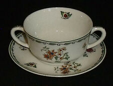 """Syracuse China Cream Soup Bowl ROSLYN Small 3.5"""" with Saucer Vtg"""