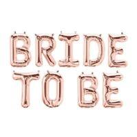 """BRIDE TO BE Rose Gold Balloons 16"""" Foil Balloon Wedding Party Banner DIY Decor"""