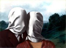 Rene Magritte The lovers 2 giclee 16.5X12 canvas print art reproduction poster