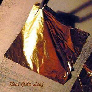 Real Gold Leaf 24K Qty 5 Sheets 80mm x 80mm Diwali Gilding Arts & Crafts