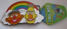 MWT, Brand new Bert and Ernie, Sesame Street Rainbow Metal Belt Buckle