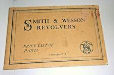 Vintage Smith & Wesson revolver gun price parts list w/photos rare catalog 1922!